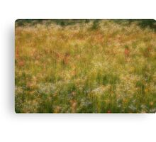 Dreamy Flower Field 6 Canvas Print