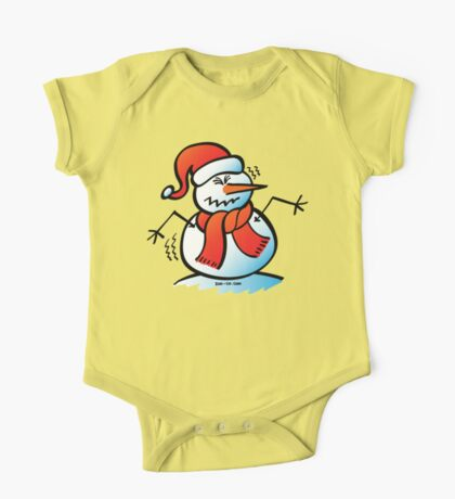 Shivering Snowman One Piece - Short Sleeve