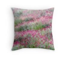 Dreamy Flower Field 10 Throw Pillow