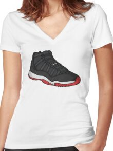 Shoes Breds (Kicks) Women's Fitted V-Neck T-Shirt
