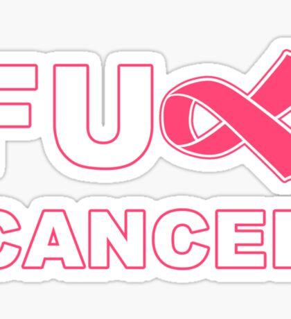 Fu** Cancer - Pink Sticker