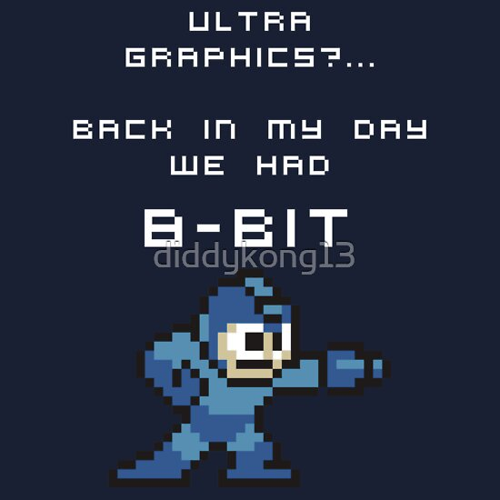 TShirtGifter presents: It was 8-Bit back in my day! - Megaman (Reversed)