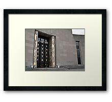 Brooklyn Library: boy returning books. Framed Print