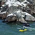Kayaking In Wintery Conditions by Bine