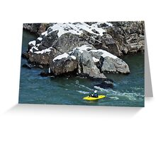 Kayaking In Wintery Conditions Greeting Card