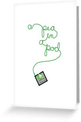ipod pea in a pod by Veera Pfaffli