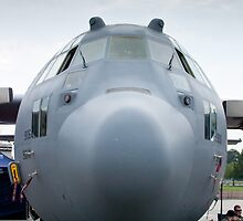AFRC 89-9106 C-130H Hercules Nose Shot by Henry Plumley