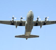 C-130 Hercules Belly Shot by Henry Plumley