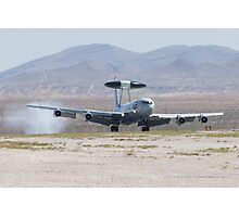 E-3A Sentry OK AF 75 0560 Touches Down Photographic Print