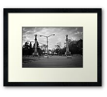 Brooklyn Grand Army Plaza: birds on a wire Framed Print