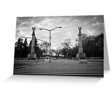 Brooklyn Grand Army Plaza: birds on a wire Greeting Card