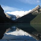 Glacial lake and reflection by Andy Newham