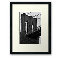 New York Brooklyn Bridge Framed Print