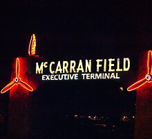 McCarran Field sign in Las Vegas, Nevada by Henry Plumley