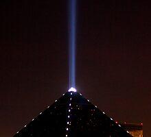 The Luxor spotlight, Las Vegas, Nevada by Henry Plumley