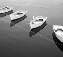 Four boats by Jeremy D'Entremont