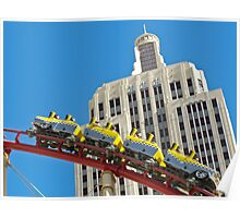 NY NY Casino Roller Coaster Poster