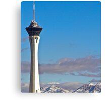Stratosphere Tower December 2008 Canvas Print