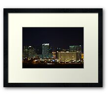 MGM City Center at Night Framed Print