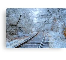 ICEY TRACKS .... Canvas Print
