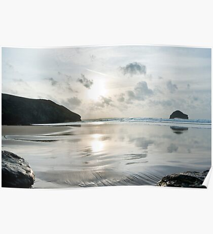 Trebarwith Strand Silver Sunset Poster