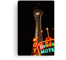 Stratosphere and Holiday Motel Canvas Print