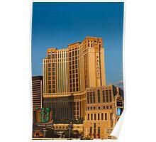 Palazzo Hotel Las Vegas at Sunset Poster