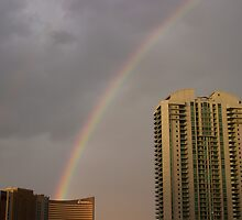 Double Rainbow Ends at the Encore Las Vegas by Henry Plumley