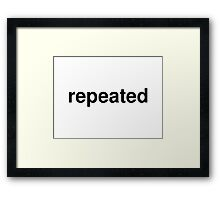 repeated Framed Print