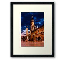 Plaza del Pilar Framed Print