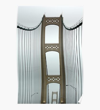 Crossing the Mackinac Bridge Poster