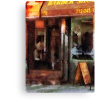 West Village Barber Shop Canvas Print