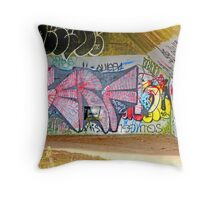 Brooklyn Graffiti Throw Pillow