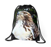 Adult Red Tailed Hawk Drawstring Bag