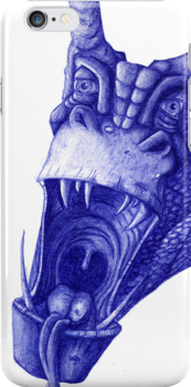 dragon in biro by aaronnaps