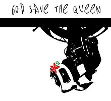 GLADoS God Save the Queen (Flower) by vandalmakesstuf