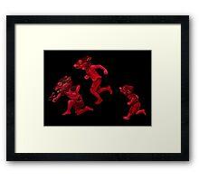 Little Hunters Framed Print