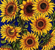 Wild Sunflowers by YouBeaut Designs