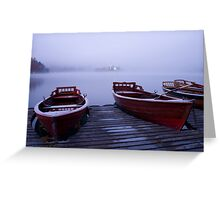 Icy mist Greeting Card