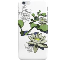 Water Lily Graphic Print iPhone Case/Skin