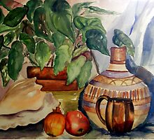 Still Life in Cool Pastels by Sandra Gale