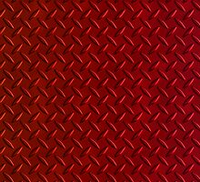 Red Diamond Plate (iPhone case) by Maria Dryfhout