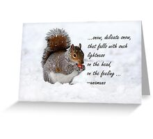 Bushy Squirrel in Snow Greeting Card