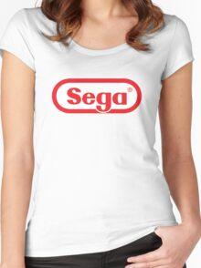 SEGA - Nintendo Style Women's Fitted Scoop T-Shirt