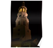 Charleston landmark at night Poster