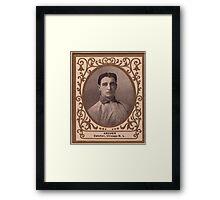 Benjamin K Edwards Collection Jimmy Archer Chicago Cubs baseball card portrait Framed Print