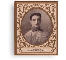 Benjamin K Edwards Collection Jimmy Archer Chicago Cubs baseball card portrait Canvas Print
