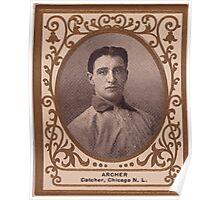Benjamin K Edwards Collection Jimmy Archer Chicago Cubs baseball card portrait Poster