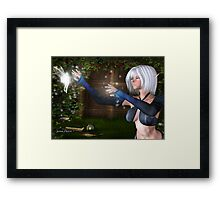 Elf Mage, Magic Creation of a Faerie Framed Print