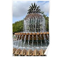 Pineapple Fountain Poster